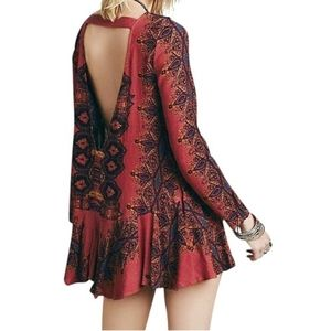 Free People Smooth Talker Tunic Copper Combo